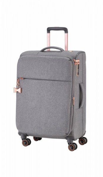 Titan Barbara 4w M elegantní dámský cestovní kufr TSA 67 cm 66/75 l šedý