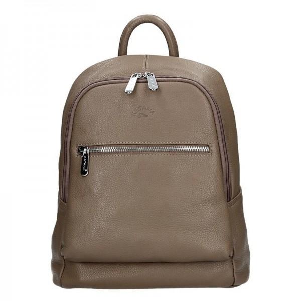 Dámský kožený batoh Katana 83819 – taupe