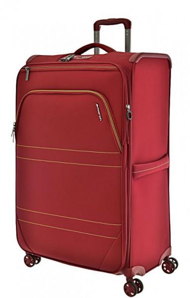 March Marathon L extra lehký cestovní kufr TSA 78 cm 104-121 l Red