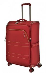March Marathon M extra lehký cestovní kufr TSA 68 cm 70-83 l Red