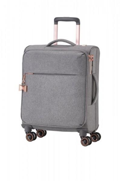 Titan Barbara 4w S elegantní dámský palubní kufr TSA 55x40x20 cm 37 l šedý