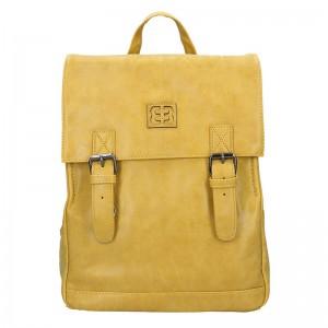 Moderní dámský batoh Enrico Benetti Vilma – žlutá