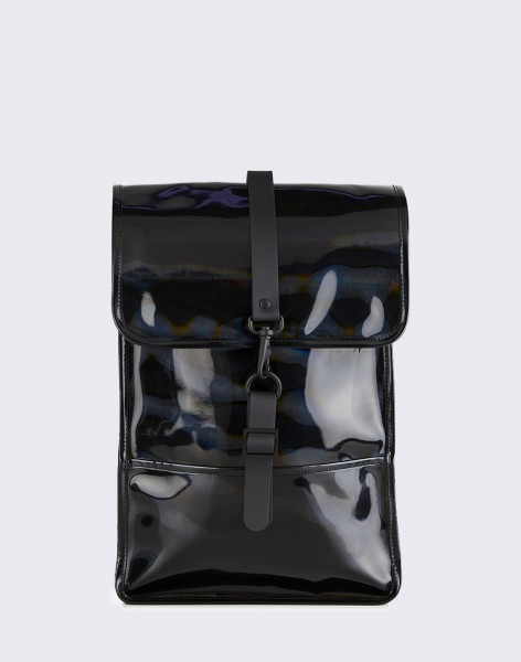 Batoh Rains Holographic Backpack Mini 25 Holographic Black