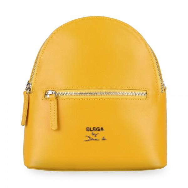 Elega by Dana M Dámský kožený batoh Bohemica 69420 – žlutá