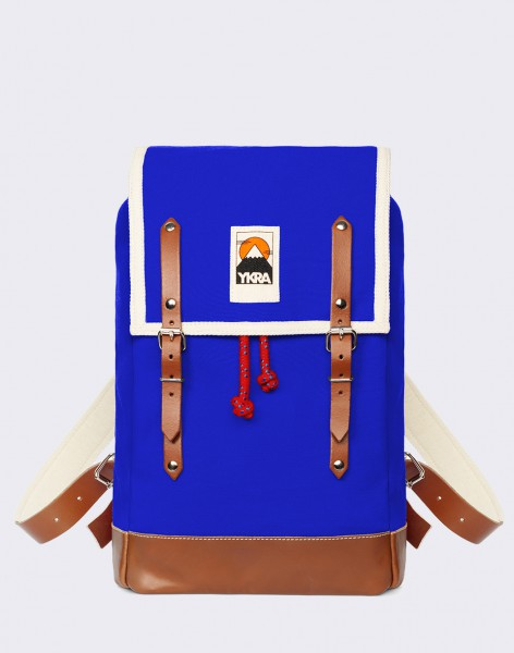 Batoh YKRA Matra Mini Leather Strap & Bottom Blue