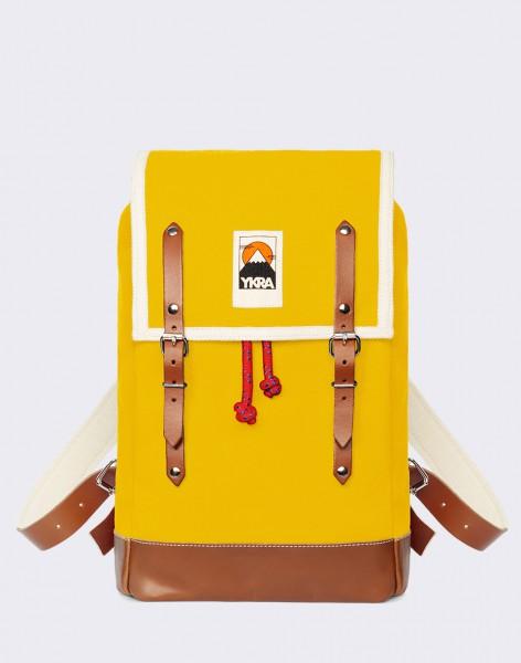 Batoh YKRA Matra Mini Leather Strap & Bottom Yellow