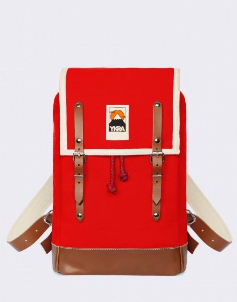Batoh YKRA Matra Mini Leather Strap & Bottom Red