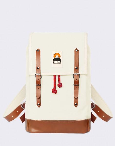 Batoh YKRA Matra Mini Leather Strap & Bottom Natural White