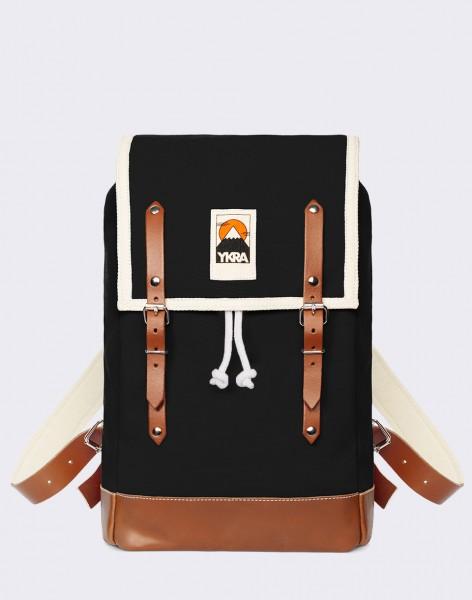 Batoh YKRA Matra Mini Leather Strap & Bottom Black
