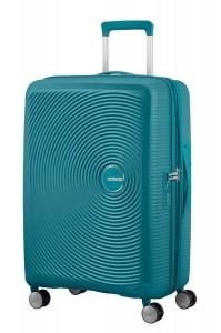 American Tourister Cestovní kufr Soundbox Spinner EXP 32G 71,5/81 l – tyrkysová