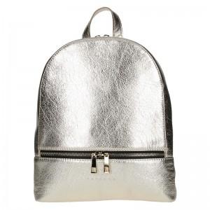 Dámský kožený batoh Facebag Paloma – zlatá