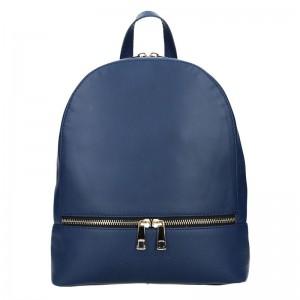 Dámský kožený batoh Facebag Paloma – modrá