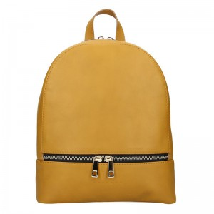 Dámský kožený batoh Facebag Paloma – hořčicová