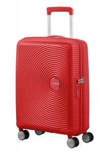 American Tourister Kabinový cestovní kufr Soundbox Spinner EXP 32G 35,5/41 l – červená