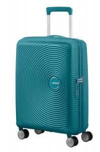 American Tourister Kabinový cestovní kufr Soundbox Spinner EXP 32G 35,5/41 l – tyrkysová