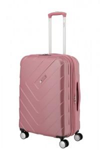 Travelite Skořepinový cestovní kufr Kalisto M Rose 70/80 l