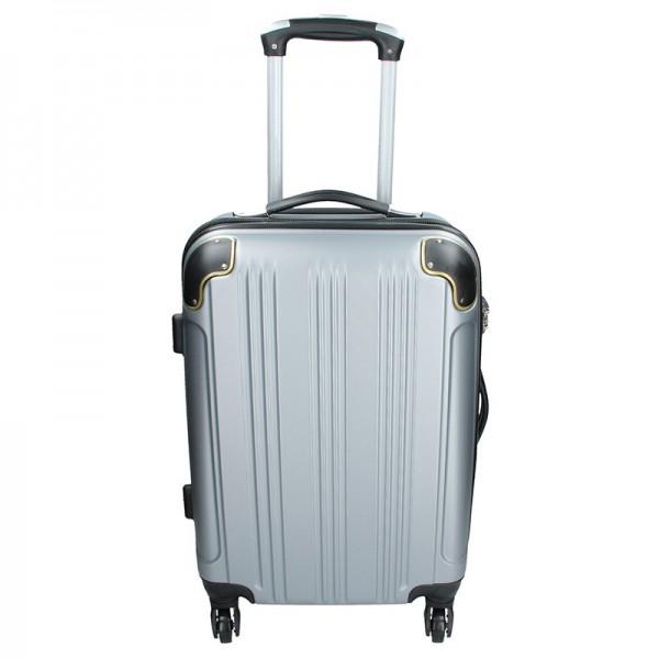 Cestovní kufr Madisson Michaela S – stříbrná