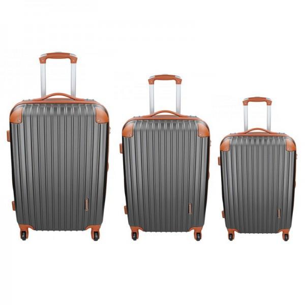 Sada 3 cestovních kufrů Madisson Apolen S,M,L – šedo-hnědá