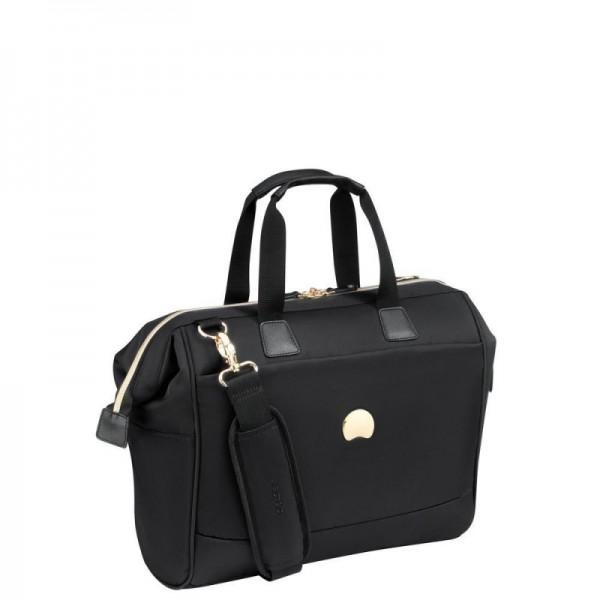 Delsey Montrouge Satchel stylová palubní taška 14″ černá