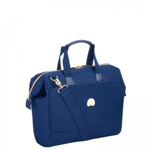 Delsey Montrouge Satchel stylová palubní taška 14″ modrá