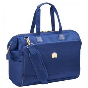 Delsey Montrouge Reporter stylová palubní taška 15,6″ modrá