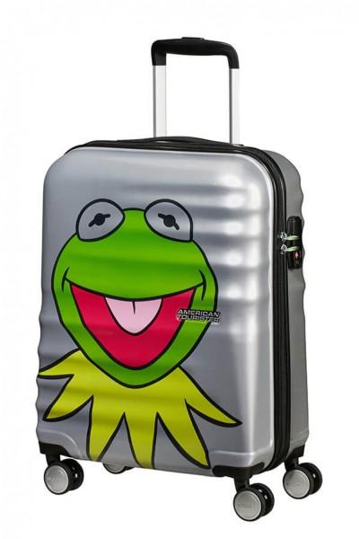 American Tourister Kabinový cestovní kufr Wavebreaker Disney Spinner 31C 36 l – Kermit Sparkle