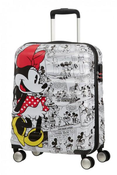 American Tourister Kabinový cestovní kufr Wavebreaker Disney Spinner 31C 36 l – Minnie Comics White