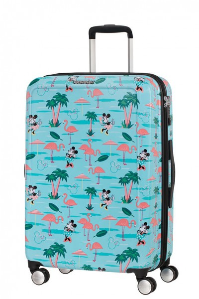 American Tourister Cestovní kufr Funlight Disney Spinner 48C 66 l – Minnie Miami Beach