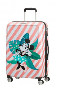 American Tourister Cestovní kufr Funlight Disney Spinner 48C 66 l – Minnie Miami Holiday
