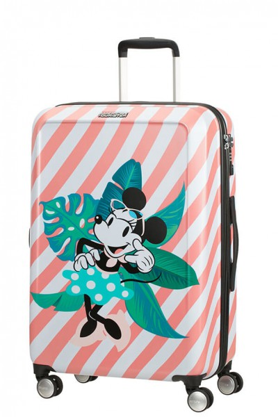 American Tourister Cestovní kufr Funlight Disney Spinner 48C 66 l – Minnie Miami Holiday