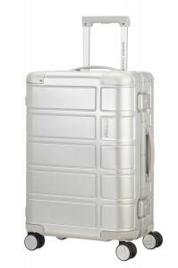 American Tourister Kabinový cestovní kufr Alumo Spinner 70G 34 l – stříbrná