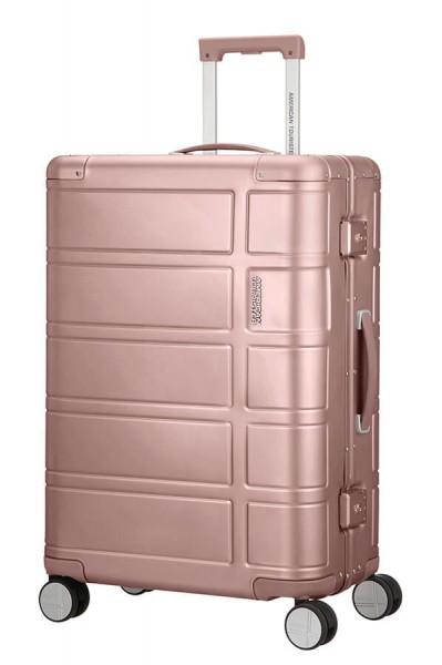 American Tourister Cestovní kufr Alumo Spinner 70G 64 l – růžová