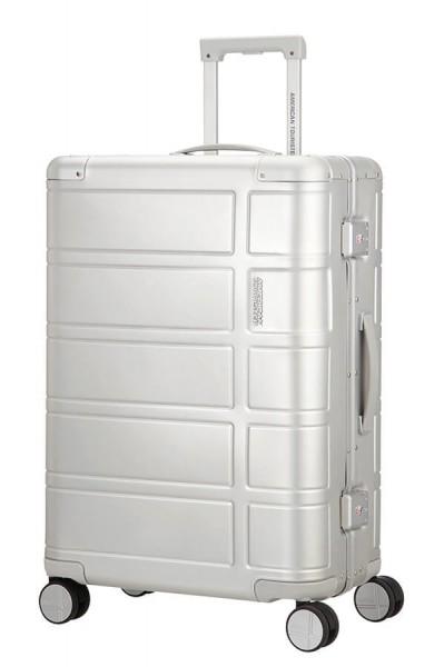 American Tourister Cestovní kufr Alumo Spinner 70G 64 l – stříbrná