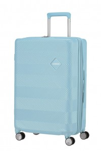 American Tourister Cestovní kufr Flylife Spinner EXP 81G 70/81 l – světle modrá