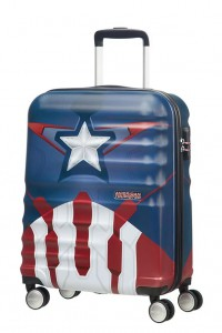American Tourister Kabinový cestovní kufr Wavebreaker Marvel Spinner 31C 36 l – Captain America Close-Up