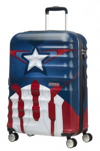 American Tourister Cestovní kufr Wavebreaker Marvel Spinner 31C 64 l – Captain America Close-Up