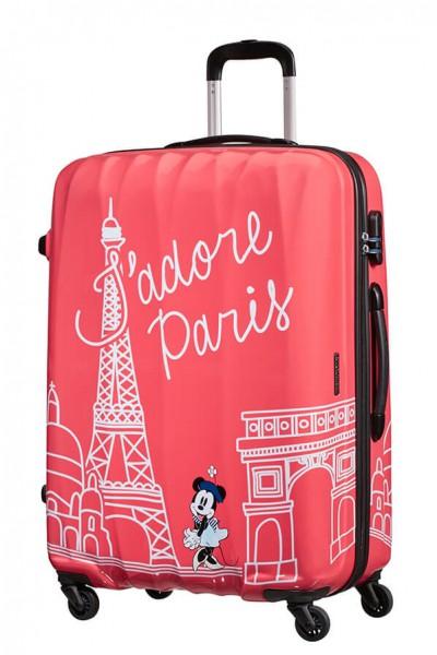 American Tourister Cestovní kufr Disney Legends Spinner 19C 88 l – Take Me Away Minnie Paris