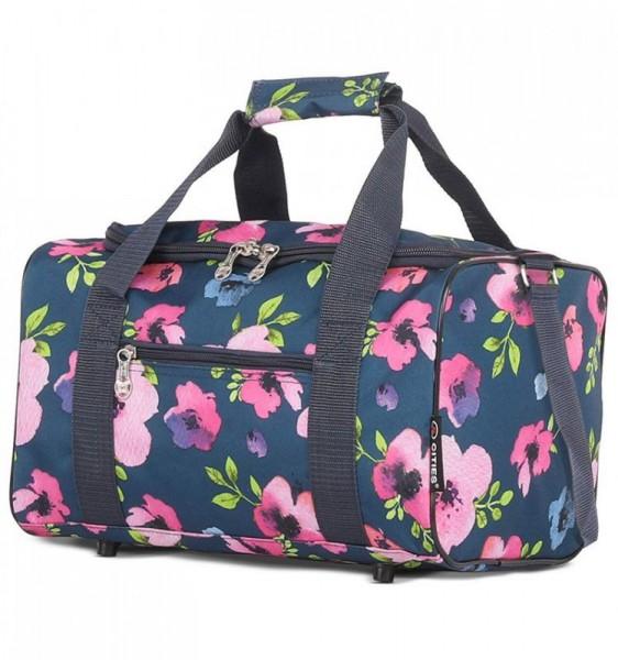 5 Cities 611 palubní cestovní taška Ryanair 40x20x25 cm Floral