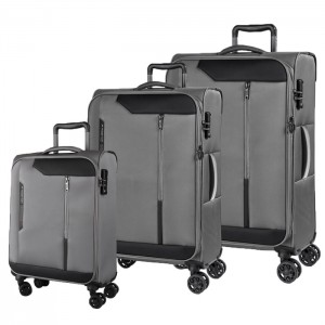 March Sada cestovních kufrů Stardust S + M + L, šedá