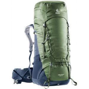 Expediční batoh DEUTER Aircontact 65 + 10 khaki-navy