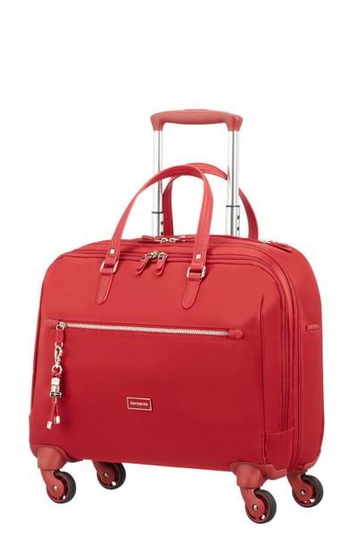 Samsonite Kabinový cestovní kufr Karissa Biz Spinner 60N 21,5 l 15.6″ – červená