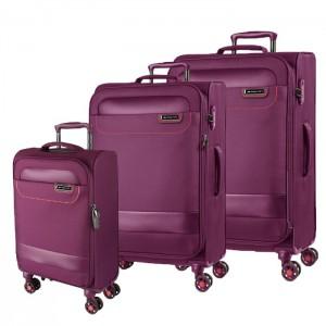 March Sada cestovních kufrů Tourer S + M + L, fialová