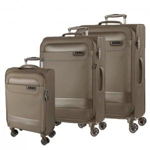 March Sada cestovních kufrů Tourer S + M + L, khaki