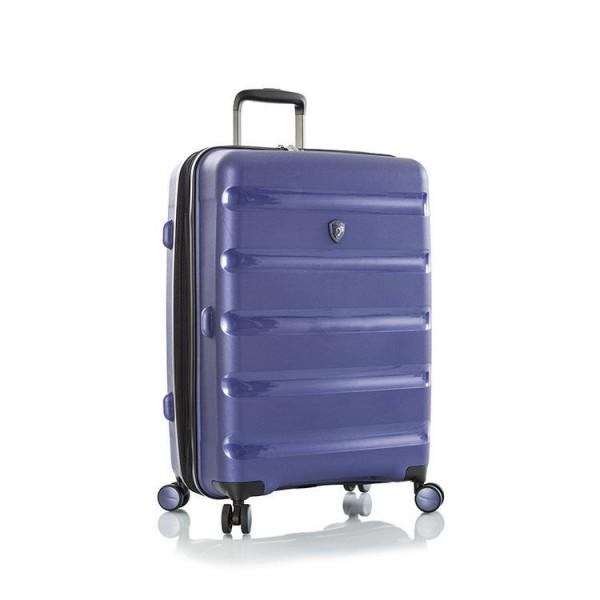 Heys Metallix M elegantní cestovní kufr Duraflex TSA 66cm 88 l Cobalt Blue