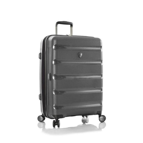 Heys Metallix M elegantní cestovní kufr Duraflex TSA 66cm 88 l Gunmetal