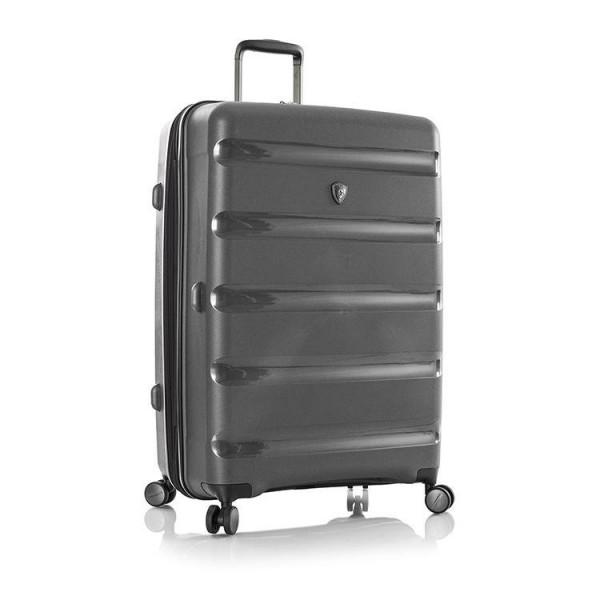 Heys Metallix L elegantní cestovní kufr Duraflex TSA 76cm 132 l Gunmetal