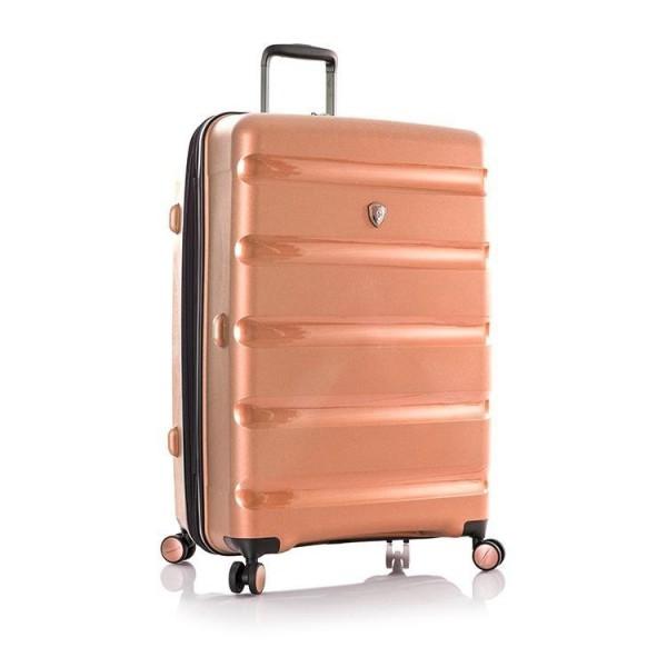 Heys Metallix L elegantní cestovní kufr Duraflex TSA 76cm 132 l Rose Gold