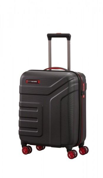Travelite Vector 4w S palubní cestovní kufr TSA 55x40x20 cm 40 l Black