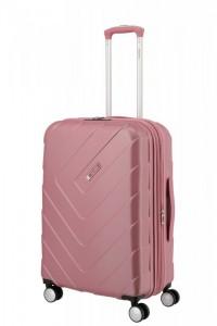 Travelite Kalisto 4w M cestovní kufr TSA 67 cm 70/80 l Rose