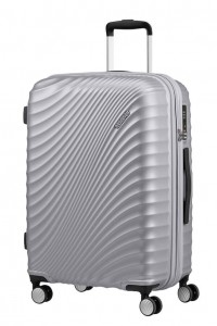American Tourister Cestovní kufr Jetglam Spinner EXP 71G 69,5/77,5 l – stříbrná